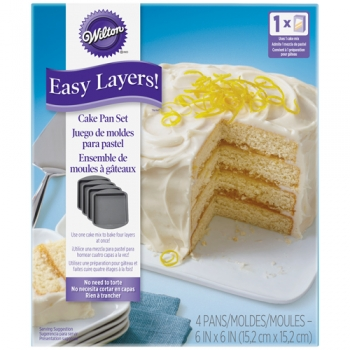 Bake A Cake Kuchenform Set Easy Layers Quadratisch 15cm