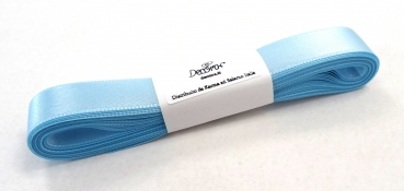 Satinband Himmelblau - 15mm x 5m