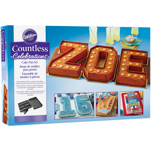 Bake A Cake Backform Set Zahlen Und Buchstaben