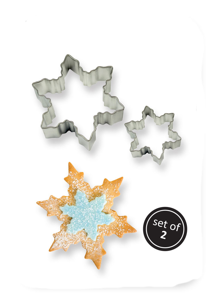 Bake A Cake Cookie Cutter Set Snowflake Pme